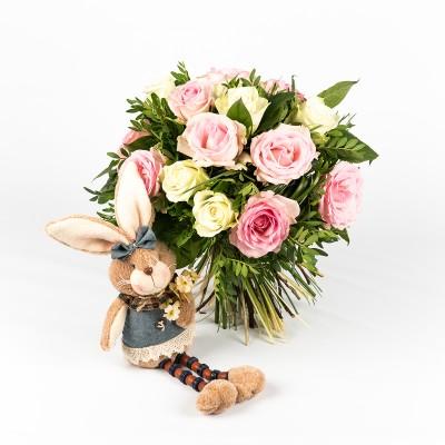 Bouquet de naissance et lapin